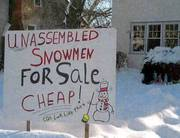 Unassembled Snowmen For Sale