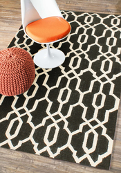 Rugsville Black Ivory Wool Moroccan Rug at rugsville canada