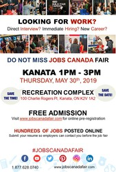 KANATA JOB FAIR – May 30th,  2019