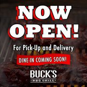 BUCK'S BBQ GRILL - NOW OPEN!